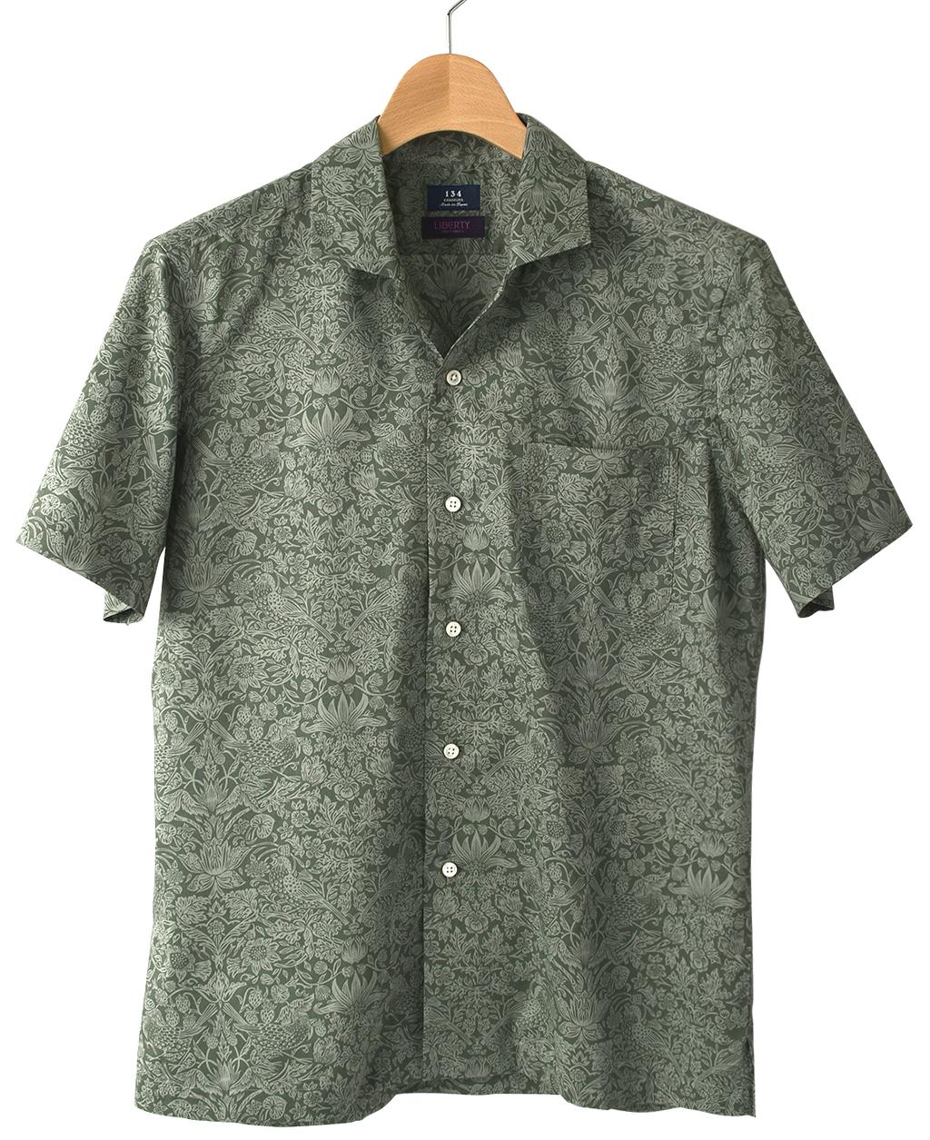 5e269059ada05e 半袖シャツ(オープンカラー)(S グリーン系): メンズ | メーカーズ ...