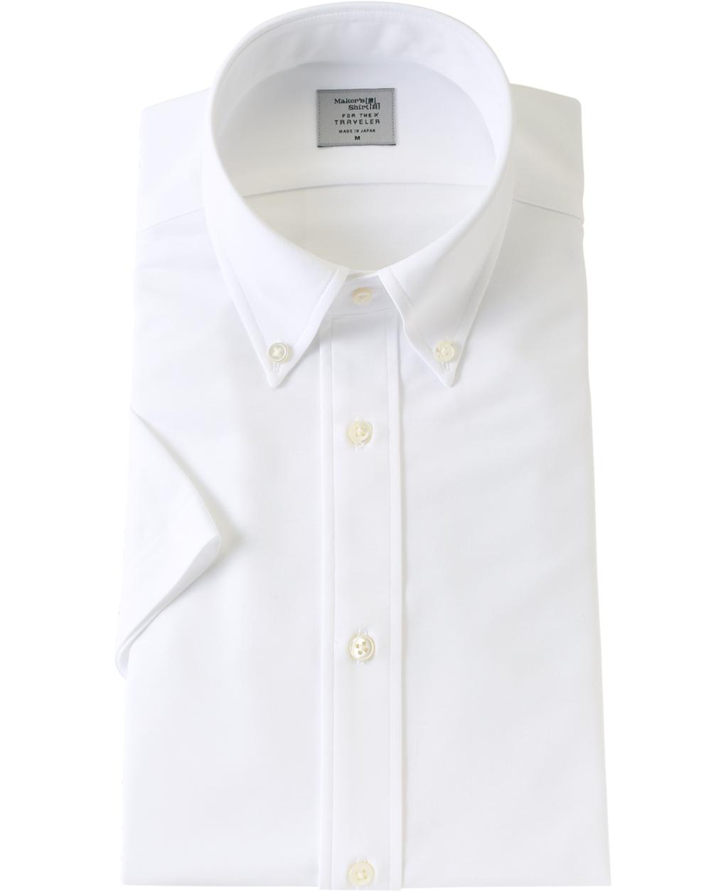 夏場は特に人気なボタンダウンカラーの半袖シャツです。