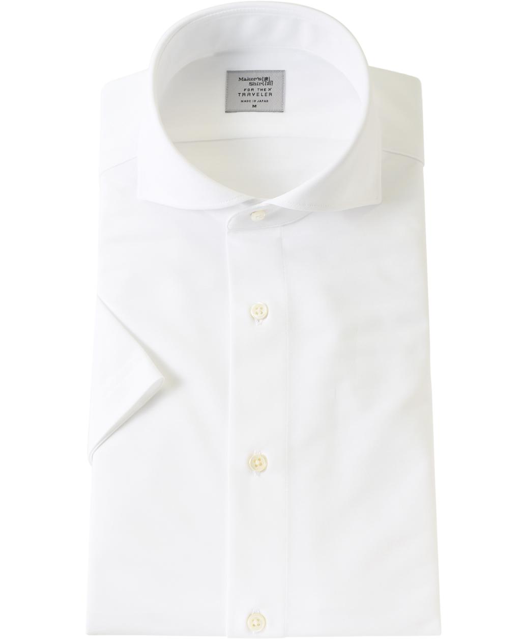 ★カッタウェイカラーのニットシャツ