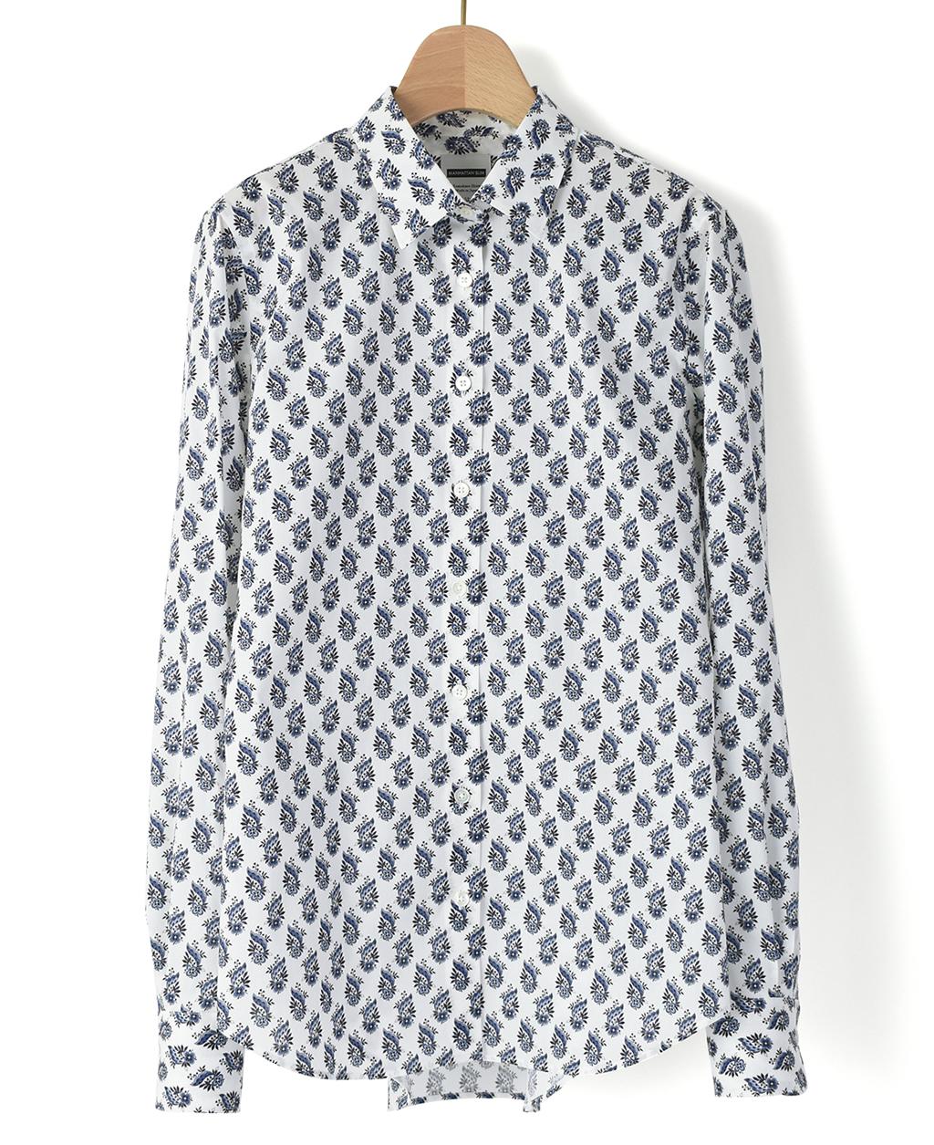 5f73dd368b8222 マンハッタンスリムシャツ(36サイズ / 7号 白): レディース | メーカーズ ...