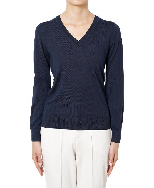 Vネックセーター/18ゲージ