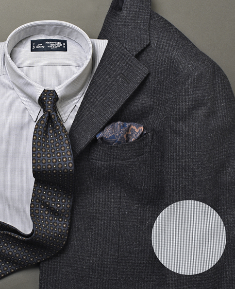 ウールシルクポケットチーフ/Made in Italy
