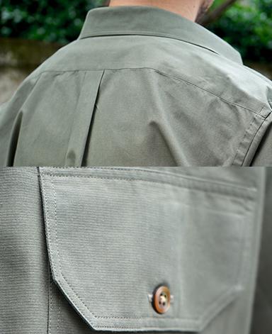 カジュアルシャツ/ダブルポケット(綿×和紙)