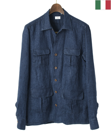 イタリアン4ポケットシャツ/(リネン)