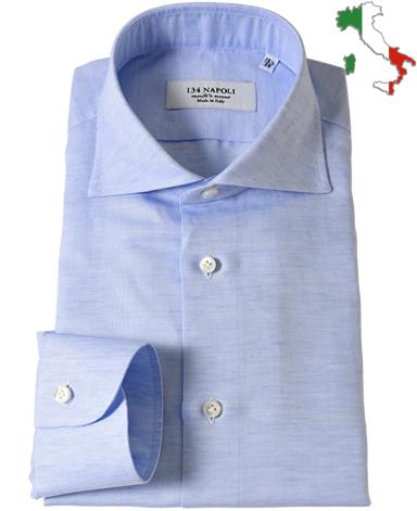 ナポリドレスシャツ/イタリア製(コットンリネン)