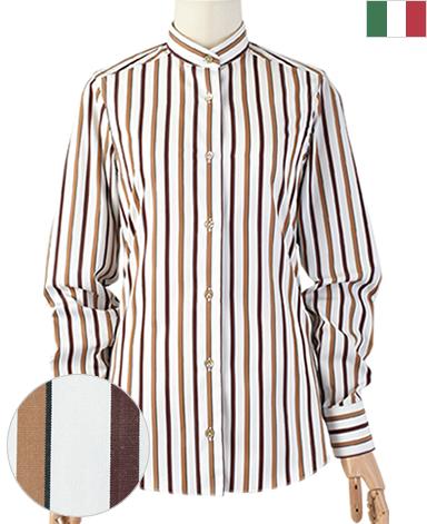 ナポリウーマンシャツ/平織り[後ろダーツデザイン]