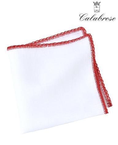 リネンポケットチーフ/CALABRESE