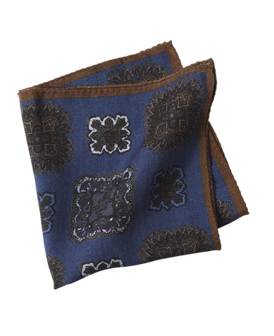 ウールポケットチーフ/Made in Italy