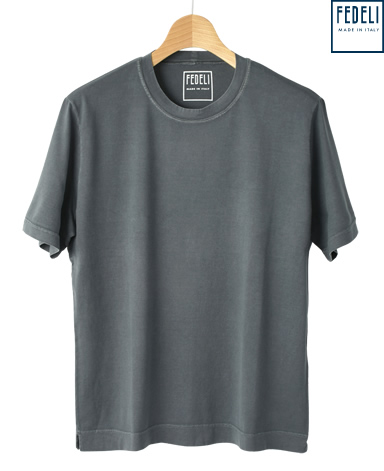 FEDELI コットンクルーネックTシャツ/GIZA45