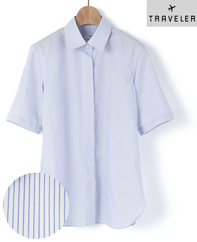 半袖比翼シャツ/ツィル