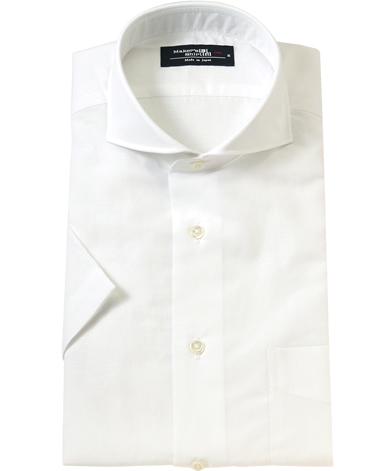 【クールビズにおすすめの半袖シャツ02】コスパ抜群といわれる、メーカーズ鎌倉(鎌倉シャツ)が生産するリネン半袖シャツです。