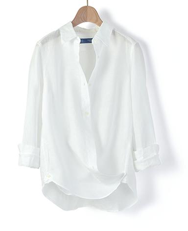 2WAY カシュクールシャツ/リネン