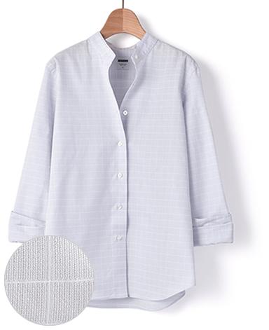 スタンドカラー マンハッタンクラシックシャツ/パナマ