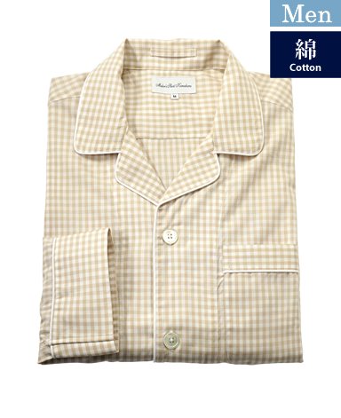 メンズ綿パジャマ