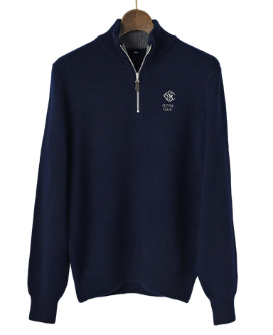 SilverClub ジップアップセーター