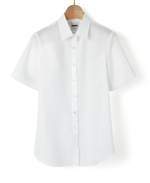 半袖 スリムシャツ/スマートリネン / イージーケア