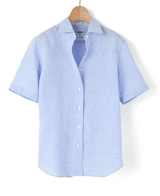 半袖 クラシックシャツ/スマートリネン / イージーケア