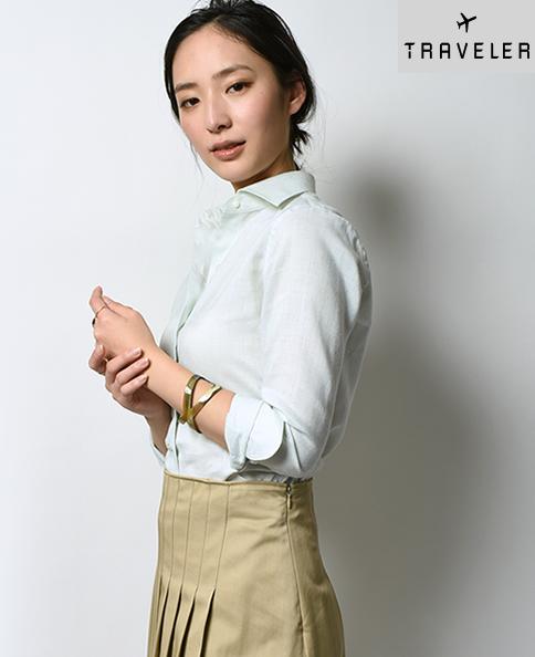クラシックシャツ/Wモデル/スマートリネン/イージーケア