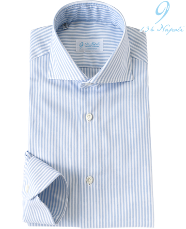 ナポリドレスシャツ(JAPANサイズ)/イタリア製(9箇所ハンドメイド )