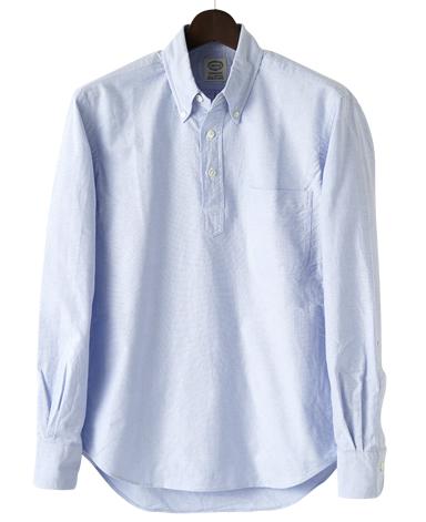 VINTAGE IVYシャツ/ブルーオックスプルオーバー