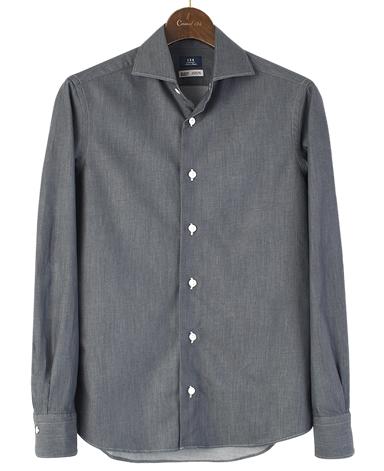 カジュアルシャツ UNTUCKED/カイハラデニム(スプレッド)