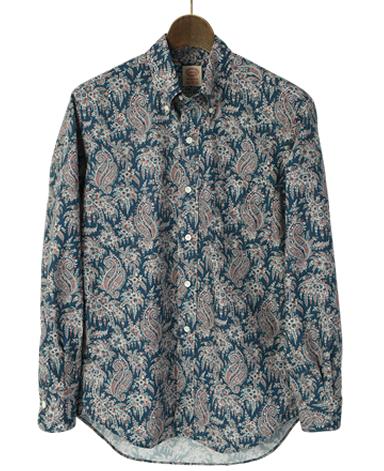 VINTAGE IVYシャツ/ペイズリーボタンダウン