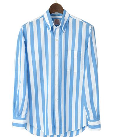 VINTAGE IVYシャツ/ブルーストライプボタンダウン