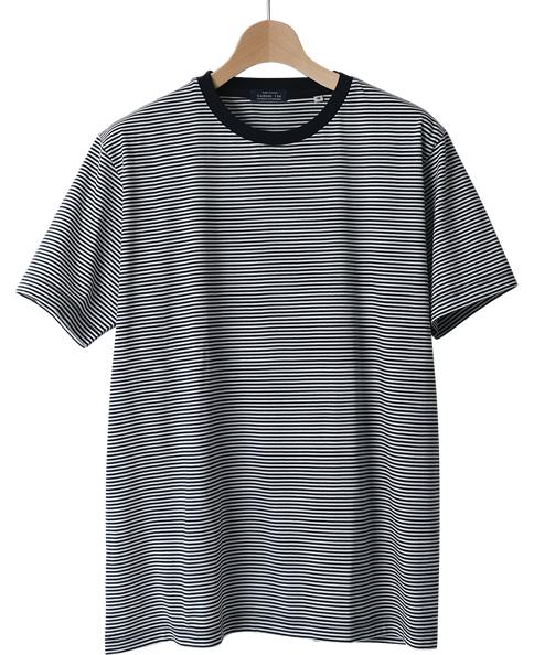 コットンボーダーTシャツ/クルーネック