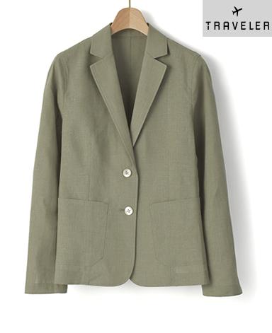 シャツジャケット/スマートリネン