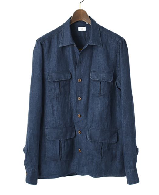 Italian Four Pocket Linen Shirt