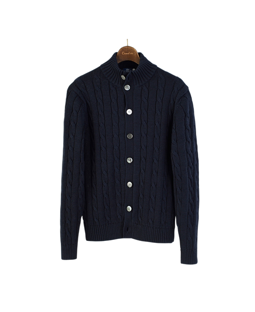 COTTON CABLE CARDIGAN